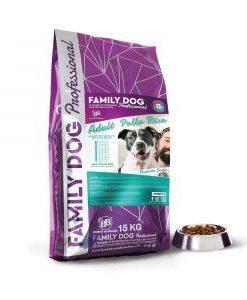 Alimento completo crocchette cibo secco per cani adulti in attivit? a base di Pollo e Riso