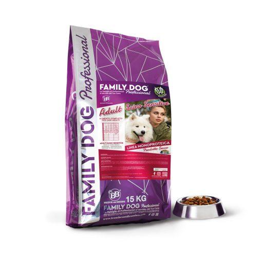 Crocchette alimento completo cibo secco per cani adulti suino grain free